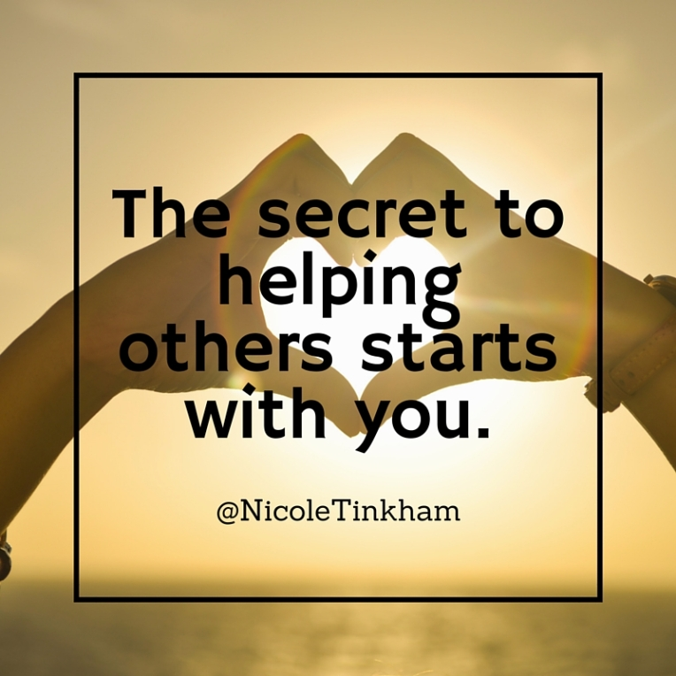 The secret to helping others starts with you