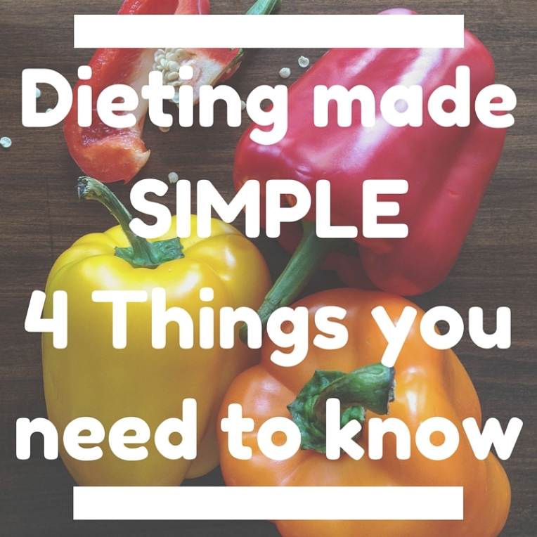 Dieting made SIMPLE - 4 Things you need to know
